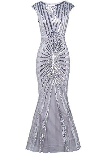 ArtiDeco 1920s Flapper Vestido con Flecos y Lentejuelas Disfraces Gran Gatsby Vestido con Cuentas Vintage Vestido de...