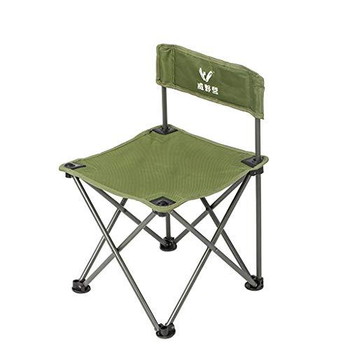 LJZslhei Stuhl Outdoor Portable Klappstuhl Angeln Stuhl Hocker Rückenlehne Stuhl