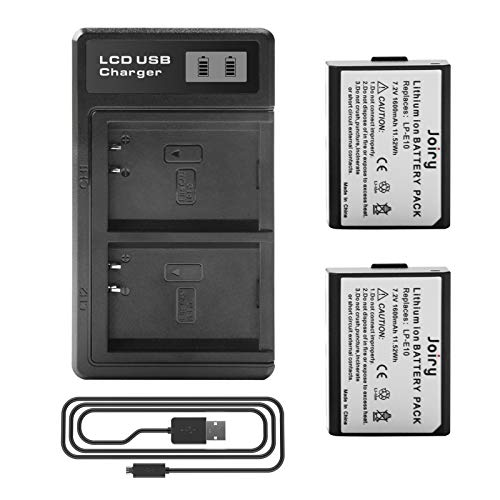 2 X LP-E10 Batería de Repuesto y LCD Cargador Dual Compatible con Canon EOS 1100D, 1200D, 1300D, EOS Rebel T3, T5, T6,Kiss X50, Kiss X70 Digital SLR Camera