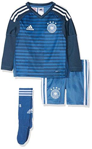 adidas Kinder DFB Torwart Mini-Heimausrüstungt WM 2022 Trikot & Shorts, Trace Royal/Sub Blue/White, 98