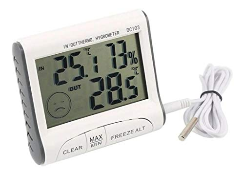 Termômetro Higrômetro Digital Sensor Externo e Display de Conforto DC103