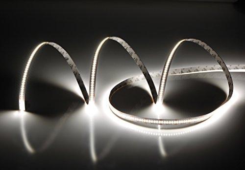 Rouleau 5 mètres bande 1500 LED 2216 SMD Lumière Naturelle 5 m 24 V DC avec adhésif double face 3 M cri 95 + mod. Premium