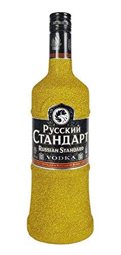 Russian Standard Vodka 0,7l 700ml (40% Vol) Bling Bling Glitzerflasche in gold -[Enthält Sulfite]
