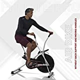 Lifelong LLF27 Fit Lite Pro Airbike Exercise Machine with Moving Handles for Cardio Training, Weight Loss and Workout at Home