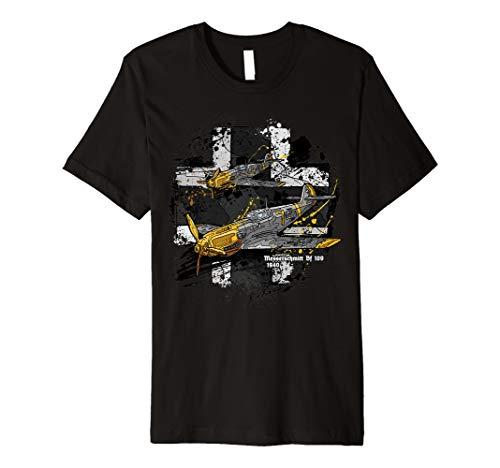 Messerschmitt Bf 109 Weltkrieg 2 Flugzeug historisch T-shirt