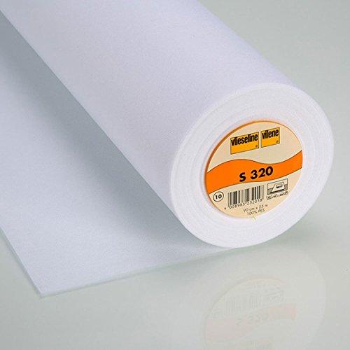 0,5 m Schabracken-Einlage S320 fixierbar 90 cm weiß