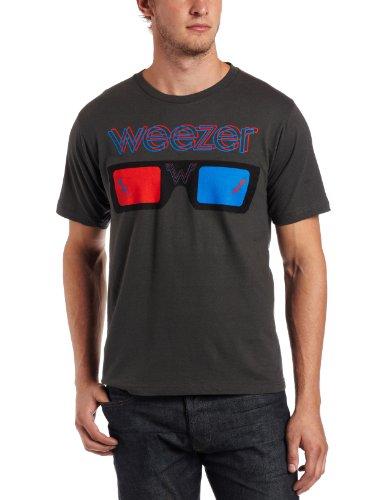 Bravado Herren Weezer 3D Brille T-Shirt - Grau - Small