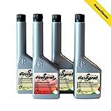 DieselSprint 500 ML - Kit DE Tratamiento REGENERADOR Diesel Aditivo para la preparación de la revisión de vehículos, 1 Botella (125 ml) Plus + 3 Botellas (375 ml)