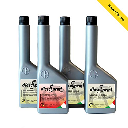 500 ML - KIT TRATTAMENTO RIGENERANTE MOTORI DIESEL Additivo preparazione test revisione auto, 1 flacone (125ml) DIESELSPRINT PLUS + 3 flaconi (375ml)
