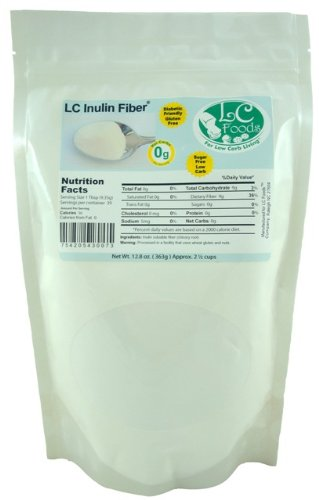 Inulin Fiber (Chicory Root) - LC Foods - All Natural - Low Carb - Gluten Free - No Sugar - Diabetic Friendly - 12.8 oz