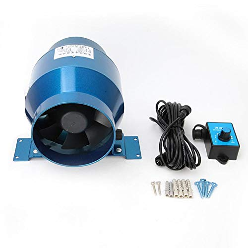 Ventilador de conducto, 4'160CFM Ventilador de conducto en línea Ventilador a dos aguas del ático AC220V con controlador de velocidad ajustable 0-100%, Ventilador de conducto de velocidad variable