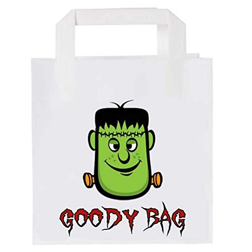 Bolsas de fiesta para Halloween, cumpleaos, para nios y nias, 6 unidades, diseo de cabeza de Frankenstein