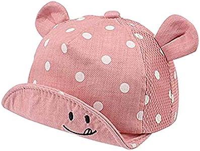 Casquillo de los niños del niño de los sombreros de Sun linda del bebé casquillo de la muchacha Niños Sombrero de sol con el oído for la primavera recién nacido fotografía apoya gorra de béisbol # 40