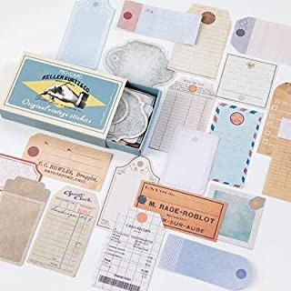 Vimax - Assorted Stickers - 60pcs/box Journal Retro Matchbox Diary Paper Stickers Paper Vintage Decorative Mobile Stickers...