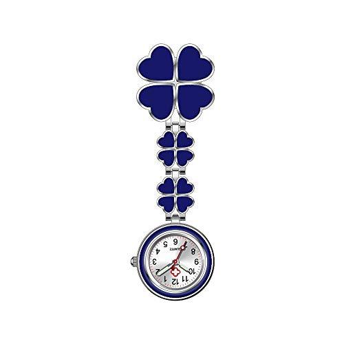 MJARTORIA Krankenschwesteruhr Ansteckuhr FOB-Uhr Nachtleuchtend Analog Uhr mit Clip Glücklich Pulsuhr Pflegeuhr für Doktor Krankenschwester Paramedic