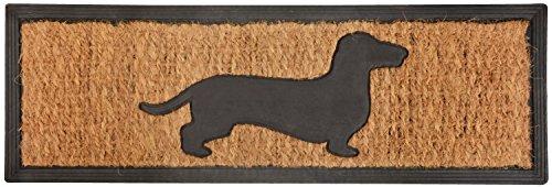 Stufenmatte Fußmatte Türmatte Fussabtreter eckig Gummi Kokos Hund Dackel