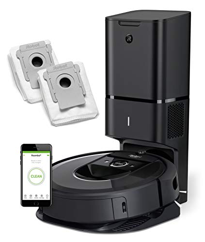 iRobot Roomba i7+ (7550) Robot Vacuum Bundle with Automatic Dirt Disposal - Wi-Fi Connected, Smart Mapping, Ideal for Pet Hair (+2 AllergenLock Dirt Disposal Bags)