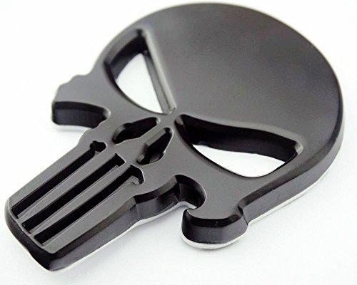 Garage-SixtySix Metall Emblem Aufkleber Punisher Schwarz