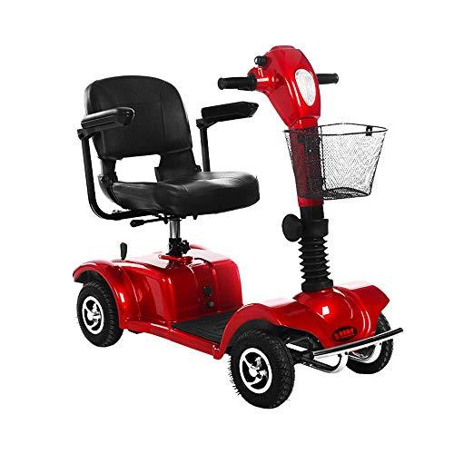 Ouderen gehandicapte elektrische rolstoel, Ouderen gehandicapten Automatische rolstoel, Draagbare Vierwielige zorgauto, Rood @, Y-L