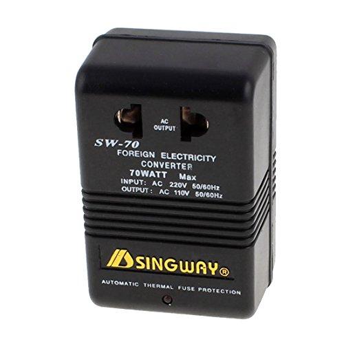 DealMux AC 220V a 110V 70W escalón de tensión del convertidor de energía del Transformador Enchufe de EE.UU.