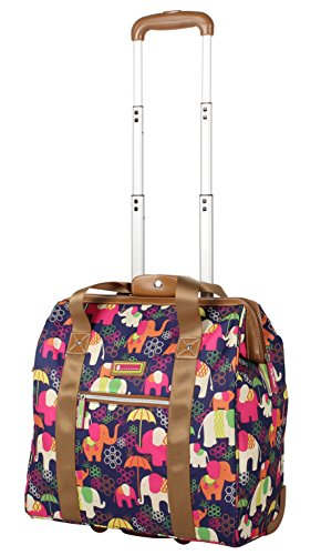 Lily Bloom Design Pattern Carry on Bag Wheeled Cabin Tote (Elephant Rain)