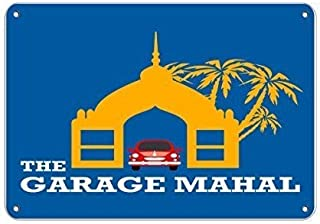 QWLINKK New The Garage Mahal Parking Sign Road Sign Business Sign 8 x 12 Inches Aluminum Metal Tin Sign