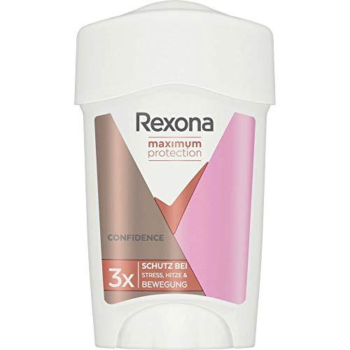 REXONA Maximum Protection Anti-Transpirant Cremestick, für langanhaltende Frische Confidence 48-Stunden-Schutz, 45ml 1 Stück