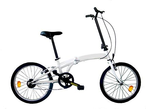 Frejus Stafford, bicicletta pieghevole, 20 pollici, bianco