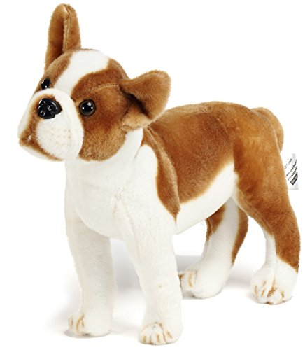 Bobby The Boston Terrier Boxer - 14.5 Inch Large Dog Stuffed Animal Plush - by Tiger Tale Toys