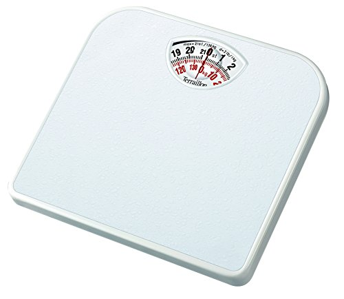 Terraillon Mechanical Bathroom Scale, Large Rotating dial, Compact, 120...