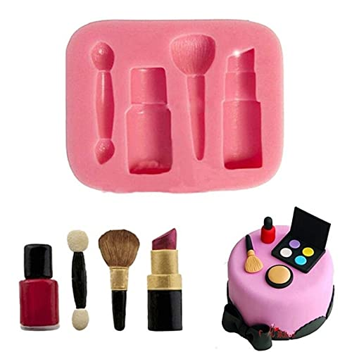 New Makeup Lipstick Silicone Fondant Mould Cake Decorating Chocolate Baking Mould Cake Mold Silicone Mold Dessert Moulds