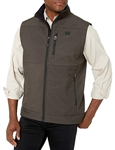 Cinch Men's Concealed Carry Bonded Vest, Brown, M