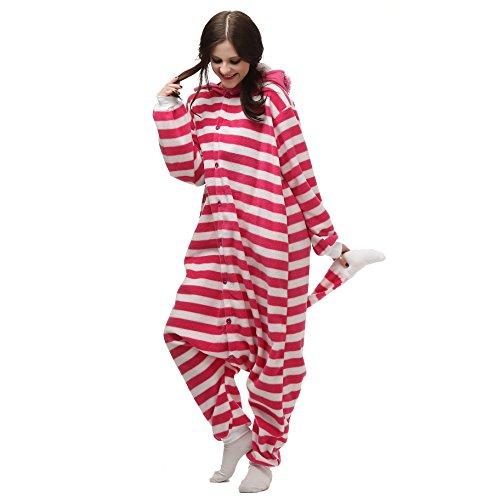 VU Roul Herren Erwachsene Kleidung Kigurumi Kostüm Schlafanzug Einteiler S Gr. Large, Cheshire Cat