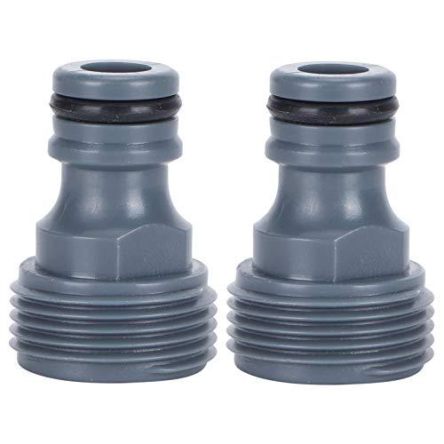 Les-Theresa 2 uds G3 / 4 Conector rápido de Rosca Macho pezón Manguera de jardín Adaptador de pezón para Sistema de riego