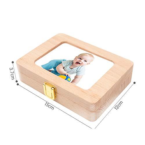 乳歯ケース乳歯入れ乳歯ボックス写真入れ最新版磁石で写真固定超便利子供の歯ケース天然木胎毛ケース出産祝い赤ちゃん胎毛ケース抜けた日シール付きうぶ毛を入れるミニボトル付き乾燥用綿付きfracakos