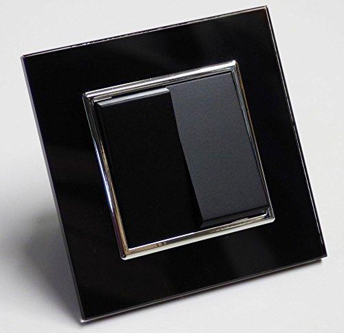 Glas Serienschalter Einbau A schwarz Elektro Schalter 338