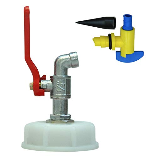 plasteo Grifo Metal + ventilación para bidones Fileteado Norma DIN 61 (30098-DIN61+22259)