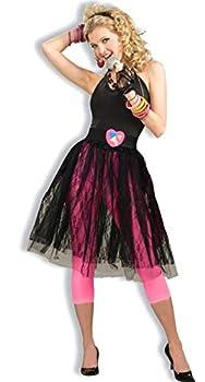 Woman s 80 s Pop Star Skirt Black One Size Costume