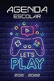Agenda escolar 2021 2022: Planificador escolar diario | Septiembre de 2021 a Agosto de 2022 | 2 días por página | Ideal para Colegio, secundaria, estudiante | Gamer Let's Play