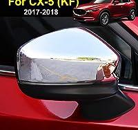 マツダ Cx-5 Cx5 2nd 世代 KF 2017-2019 クローム翼ドアミラーカバートリムキャップ成形オーバーレイガーニッシュ装飾