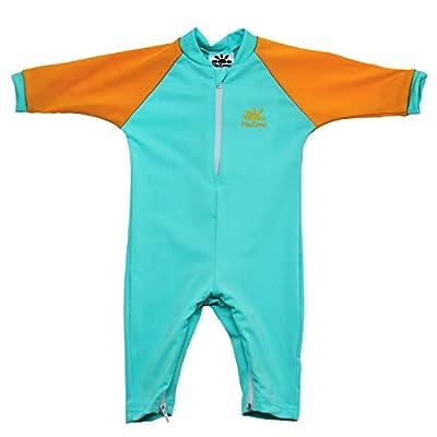 Nozone Fiji Sun Protective Baby Swimsuit in Aquatic/Papaya, 6-12 Months