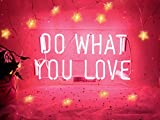Do What You Love Neon Sign Neon Signs Neon Lights Halloween Signs Neon Wall Signs Pink Neon Room Lights Custom Neon Words for Wall Bedroom Room Apartment Studio Party Christmas Decor