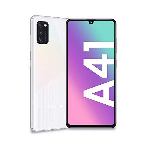 "Samsung Galaxy A41, Dual Sim, Android 10, 151 g, [VSmartphone, Display 6.1"" Super AMOLED, 3 Fotocamere Posteriori, 64GB Espandibili, RAM 4 GB, Batteria 3500 mAh, 4G, [Versione Italiana], White"