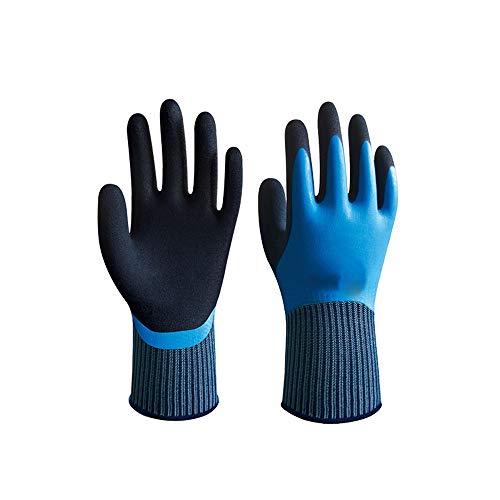 Axdwfd Protection Haute Performance, Gants de Travail de sécurité, antidérapante, Gants de réparation de Voitures (Color : Blue, Size : XL)
