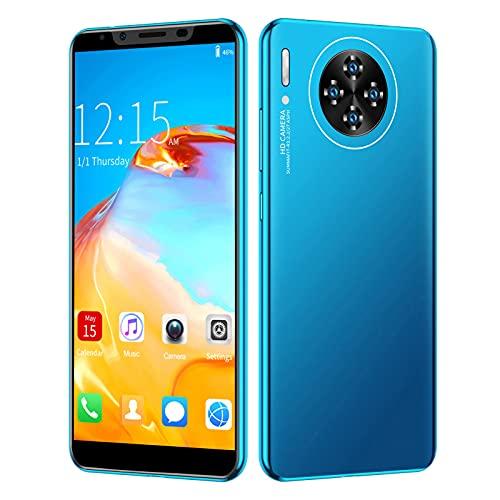 Smartphone, M30 Plus 5.8in HD Pantalla Dual SIM Dual Standby Smartphone Carga Rápida con Auricular para Regalo De Cumpleaños 512MB + 4GB Azul