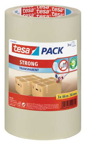 tesapack PP STRONG 3 x 66M:50 MM TRANSPARANT