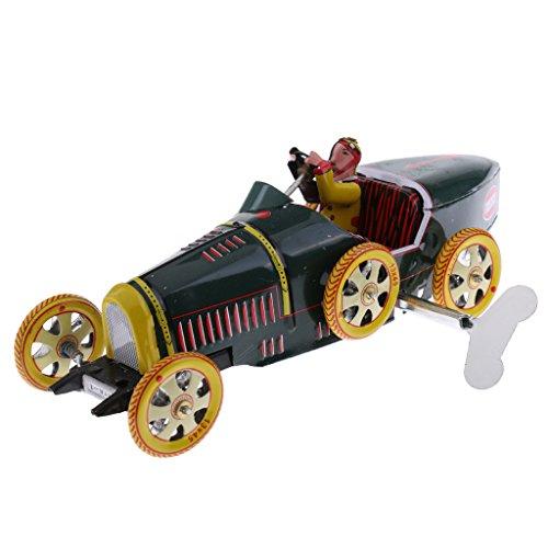 CUTICATE 21 Option Vintage Mechanische Wind Up Roboter / Auto / Karussell Metall Blechspielzeug Home Decor - G
