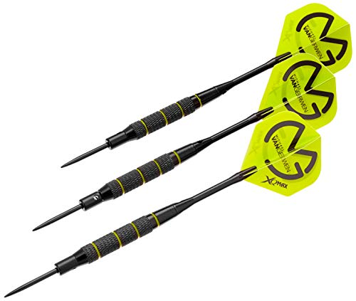 XQMAX Brass Darts Geschenkset Michael van Gerwen, u.a. 3 Barrels, Soft/Steel Tips uvm.