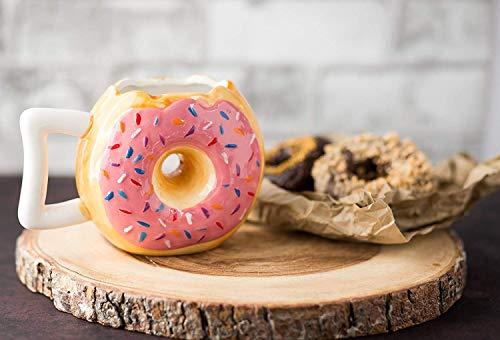 Valentine Tasse Rosa Donut Kaffeebecher