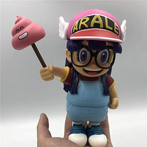 Factorydiy Modelo de Personaje Anime Dibujos Animados de Anime Dr.Slump Arale con heces PVC Figura de acción Modelo de Juguete Alto Aproximadamente 20Cm Juguetes para Regalo de Amigo